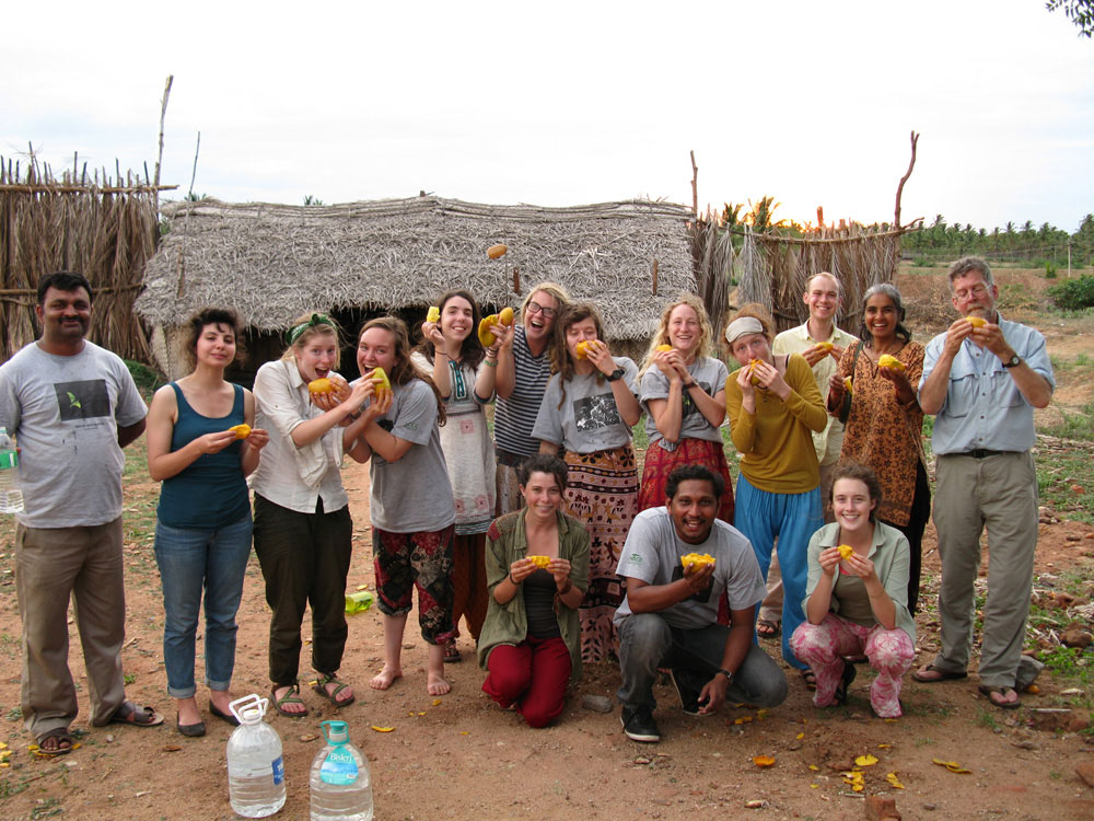 """It's been an amazing and quick six weeks, and we have experienced so many different things: learning to eat rice and soupy vegetable mixes without silverware, speaking with Soliga community elders about efforts to take care of the forest, crossing rushing streams within a Tiger Reserve. I hope I speak for the group when I say this study abroad has been an invaluable asset to our education and to our understanding of how other countries look at environmental issues.""  -- Katelyn Whitt, sophomore in environmental studies"