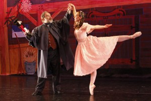 "Goracke performs as Clara in the Lawrence Arts Center's production of ""The utcracker."""