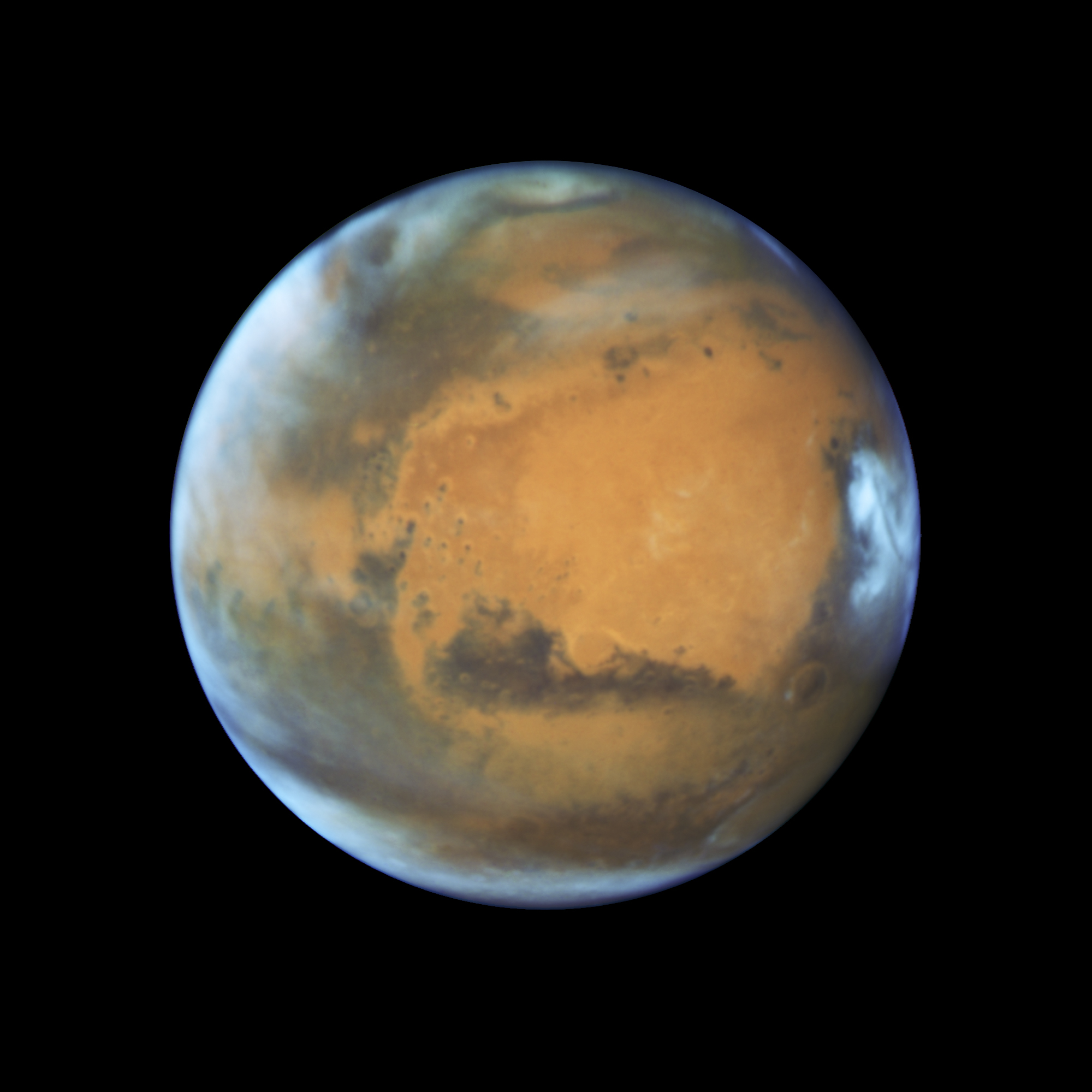 Mars image from Hubble Space Telescope