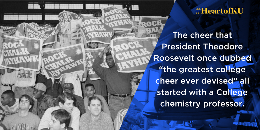 "The cheer that President Theodore Roosevelt once dubbed ""the greatest college cheer ever devised"" all started with a College chemistry professor."
