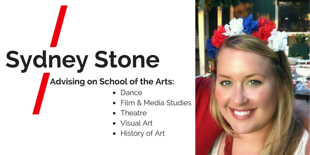 Sydney Stone. Advising on School of the Arts: Dance, Tilm & Media Studies, Theatre, Visual Art, History of Art.